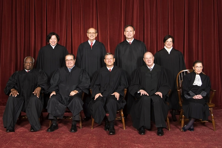the current justices Supreme_Court_US_2010